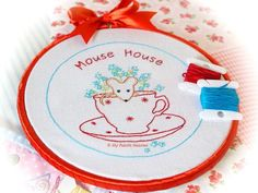 Mouse-House Embroidery Pattern
