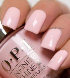 OPI – Pretty Pink Perseveres – My Nail Polish Online - machine. Blush Pink Nails, Pink Toe Nails, Pink Nail Colors, Toe Nail Color, Pretty Nail Colors, Pretty Nails, Essie Pink Nail Polish, Opi Nails, Nail Polish Colors