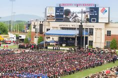 Liberty University students, family, and friends gather inside Williams Stadium for the 41st Commencement Ceremony on Saturday, May 10, 2014.