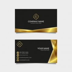 Modern golden business card with black background premium vector Event Planning Quotes, Event Planning Checklist, Event Planning Business, Modern Business Cards, Business Card Design, Name Cards, Card Templates, Black Backgrounds, Photoshop Images