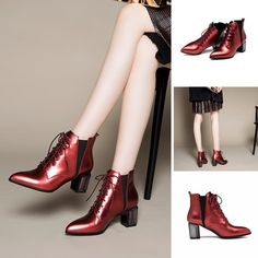 Boots - Lana @shoesofexception #glossy #trendy #fashion #boots #womensfashion