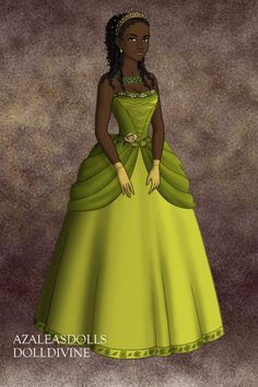 Tiana from Disney's Princess and the frog, made with Doll Divine Tudors Scene maker [link] Tudors Tiana Disney Princess Snow White, Disney Princess Art, Disney Fan Art, Disney Style, Disney Love, Princess Tiana Costume, Pocket Princesses, Disney Princesses, Tiana And Naveen