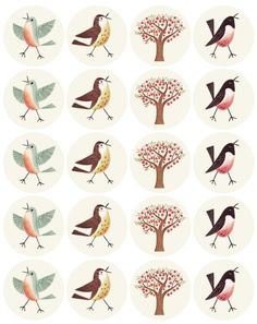 free printable bird labels