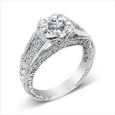 1ct cz Brilliant Engagement Ring 925 Silver Cubic Zirconia