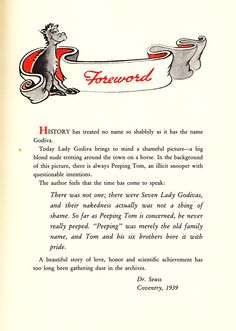 dr seuss did a book for adults - the seven lady godivas