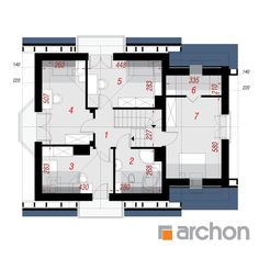 Dom pod liczi 5 (P) Architectural House Plans, Modern House Design, Traditional House, Bungalow, My House, Villa, Floor Plans, How To Plan, Architecture