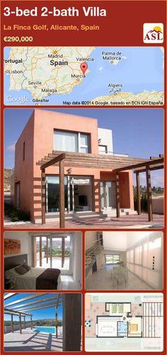 3-bed 2-bath Villa in La Finca Golf, Alicante, Spain ►€290,000 #PropertyForSaleInSpain
