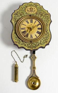 Venetian-Florette-Green-7-Clock-w-Pendulum-Missing-1-Weight #clock #vintage #venetian #pendulum