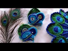 In this video, I have explained easy, step by step method to make a matching MUKUT ( मुकुट ) for Beautiful New Year (NYE) Special Peacock Feather crochet dre. Crochet Feather, Crochet Bee, Crochet Shawl, Crochet Crafts, Crochet Flowers, Crochet Stitches, Knitting Patterns, Crochet Patterns, Baby Patterns