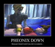 Video game logic. Makes no damn sense. Phoenix. Really. Spelling. Please. I'm going to explode.