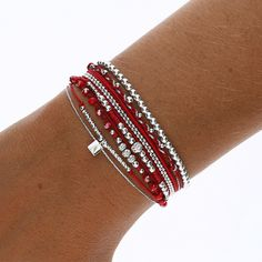 COMPOSITION RED SQUARE - BRACELETS