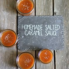 homemade salted caramel sauce- serve on ice cream, cheesecake, fruit (or eat it with a spoon!)