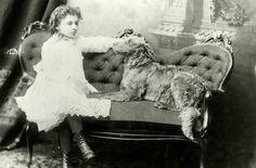 """Helen w/ actual dog, """"Jumbo"""""""