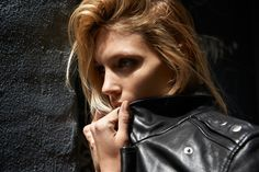 Anja Rubik by Johan Lindeberg for BLK DNM 2014-15
