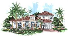 This remarkable coastal home design (House Plan #133-1022) has over 3290 square feet of living space. The two story floor plan includes 4 bedrooms. (Davinci)