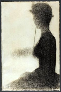 Georges Seurat, Seated Woman with a Parasol (study for La Grande Jatte), 1884