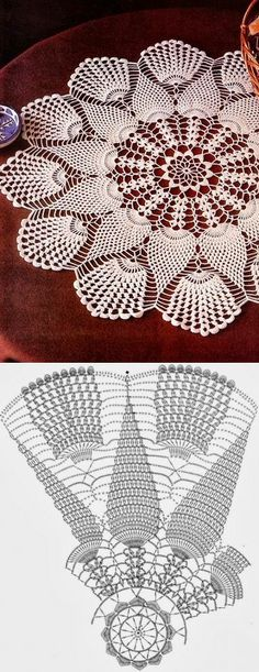 Round doily crocheted ..♥ Deniz ♥