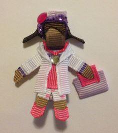 Doc Mcstuffins Ribbon Sculpture Hair Clip by Baby Bug Wear - www.facebook.com/babybugwear