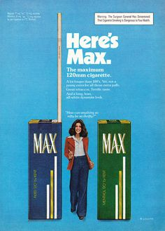 A collection of funny tobacco ads in the past