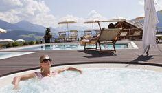 4 beheizte Outdoor-Pools #leadingsparesort #wellness #hubertus #panorama #südtirol #italien