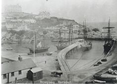 Newquay Harbour soon after the Headland Hotel was built in 1900