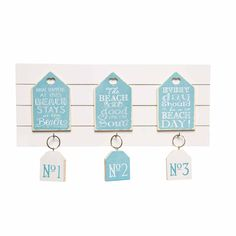 Seaside-themed key holder in blue and white – PASX UK