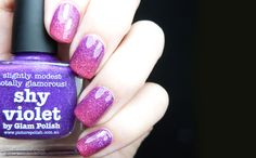 piCutre pOlish 'Shy Violet' and 'Shocked' 31 Day Challenge Lilac nails polish on pollypolish.com