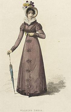 Rudolph Ackermann (Germany, Saxony, Schneeberg, 1764-04-20 - 1834-03-30)   Fashion Plate (Walking Dress), 1809; April 1, 1822