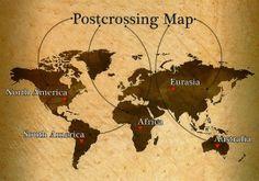 Postcrossing Map Postcard