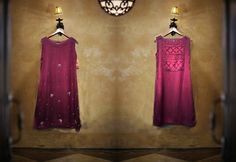 "stone art dress ""Product F-104 Feature: Shirt Fabric : Shimmer Chiffon , Silk. Color: Deep purple. Round neck with front stone embroided work. back décor with stitching designing cut. Inner attach with Shirt with finishing. Optional Sleeves."" #ShimmerChiffon #DeepPurple #StoneEmbroidered #BackDecor #Sleeves #InnerShirt #FashionStyle #GirlsFashion #DesignerWear #GirlsClothing #NewPiece #OrderNow"