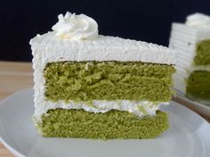 Green Tea Chiffon Cake! It's so light and so delicious! Love it! https://nichaliciousbaking.wordpress.com/green-tea-chiffon-cake/
