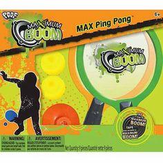Poof-Slinky Maximum Boom Portable Ping-Pong Set, Orange