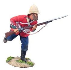 Jim's Old Soldier: Zulu War W Britain British 24th Foot Infantry Charging No.1 1/32 20044 Collectible Toy Soldier 1/32 Scale Hand Painted Metal Figure