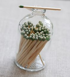 Matches in apothecary jar - Alder and Co.