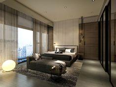 service apartment interior design mocha - unit 01_master bed rev