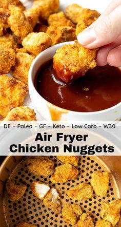 Air Fryer Chicken Nuggets are better than any fast food. You'll never want to hi… Air fryer chicken nuggets are … Fried Chicken Nuggets, Air Fryer Fried Chicken, Air Fryer Chicken Tenders, Chicken Nugget Recipes, Air Fryer Chicken Recipes, Chicken Fast Food, Air Fry Chicken, Recipe Chicken, Dairy Free Fried Chicken Recipe