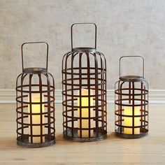 The perfect accent for a rustic coastal look, our lanterns feature galvanized iron that's been given an antiqued finish. Add some Glimmer Strings® for extra atmosphere. Unique Home Decor, Home Decor Items, Outdoor Candle Lanterns, Papasan Chair, Metal Vase, Metal Baskets, Patio Plants, Unique Lighting, Inspired Homes