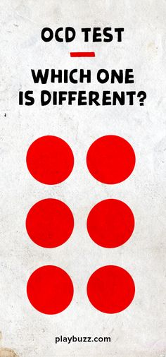 To OCD free people all the following shapes look identical, but one of them is different - Are your eyes, brain and OCD radar sensitive enough to spot it? *This test was created for amusement and is not diagnostic in any way.