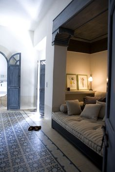 Nook lounge at Riad Tarabel, Marrakech, Morocco