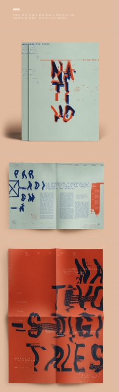 Nativos Digitales | Desplegable Tipográfico