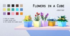 Sims 4 CC's - The Best: Flowers in a Cube by JSboutique