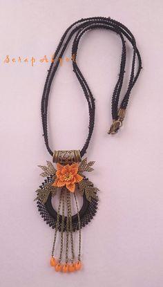 #takı#kolye#needlelace#necklace#Çiçek#elişi