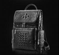 Men s Genuine Crocodile Skin Backpack 224ff17a97d29