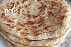 Katmer (Akşam Yoğur Sabah Pişir) Tarifi Hummus, Food And Drink, Pizza, Diet, Cooking, Ethnic Recipes, Cheese, Yogurt, Kuchen