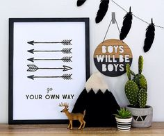 'BOYS WILL BE BOYS' WALL PLAQUE