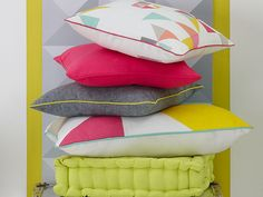 These cushions will add a finishing touch to your room, and match Colours Paolo curtains.
