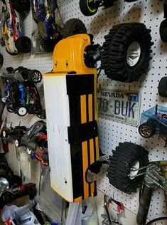 Radios, Rc Truck Bodies, Rc Shop, Traxxas Rustler, Basement Workshop, Car Storage, Storage Ideas, Rc Cars And Trucks, Rc Remote