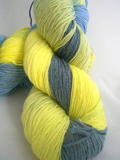 Lightning Dust  Hand Dyed Vegan Sock Yarn  447 by quovadishandspun, $25.00