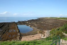 Getting ready to go on a geology walk on the fossil beach between Pittenweem and St Monan's, Fife