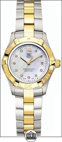 TAG Heuer WAF1425.BB0825 - Reloj para mujeres, correa de acero inoxidable color plateado  ✿ Relojes para mujer - (Lujo) ✿